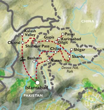 ISLAMABAD to ISLAMABAD (21 days) Karakorum Highlights & Chitral Valley - Kalash Festival