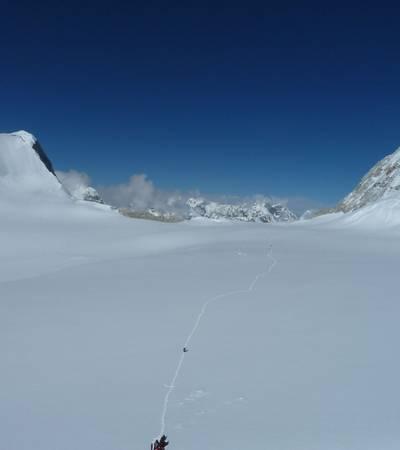 West Barun glacier