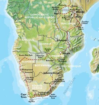 NAIROBI to JOHANNESBURG (93 days) Grand Adventurer