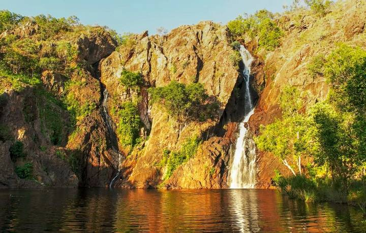 beautiful wangi waterfalls in litchfield national park near darwin