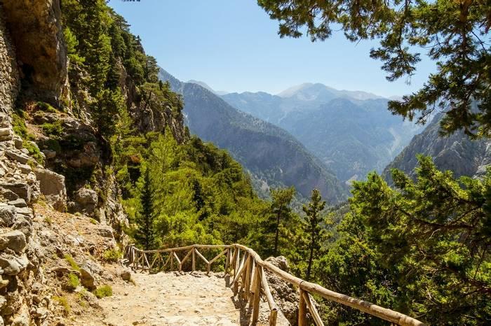 Samaria Gorge. Creteshutterstock 705171958