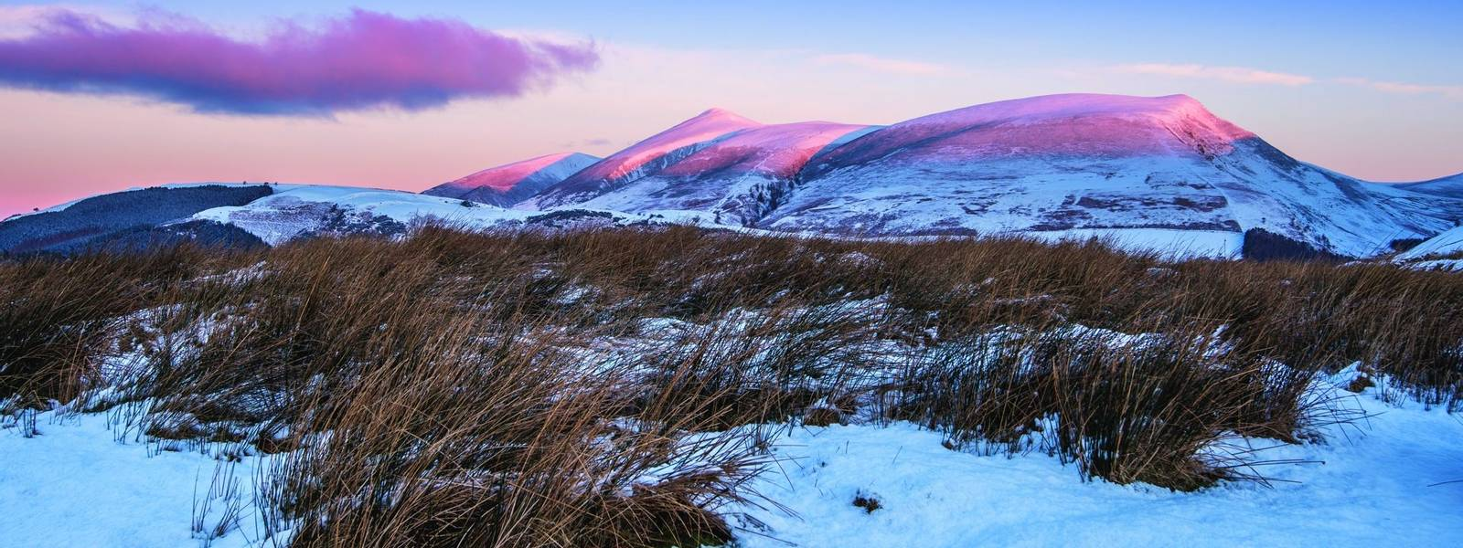 Winter Sunrise on Skiddaw
