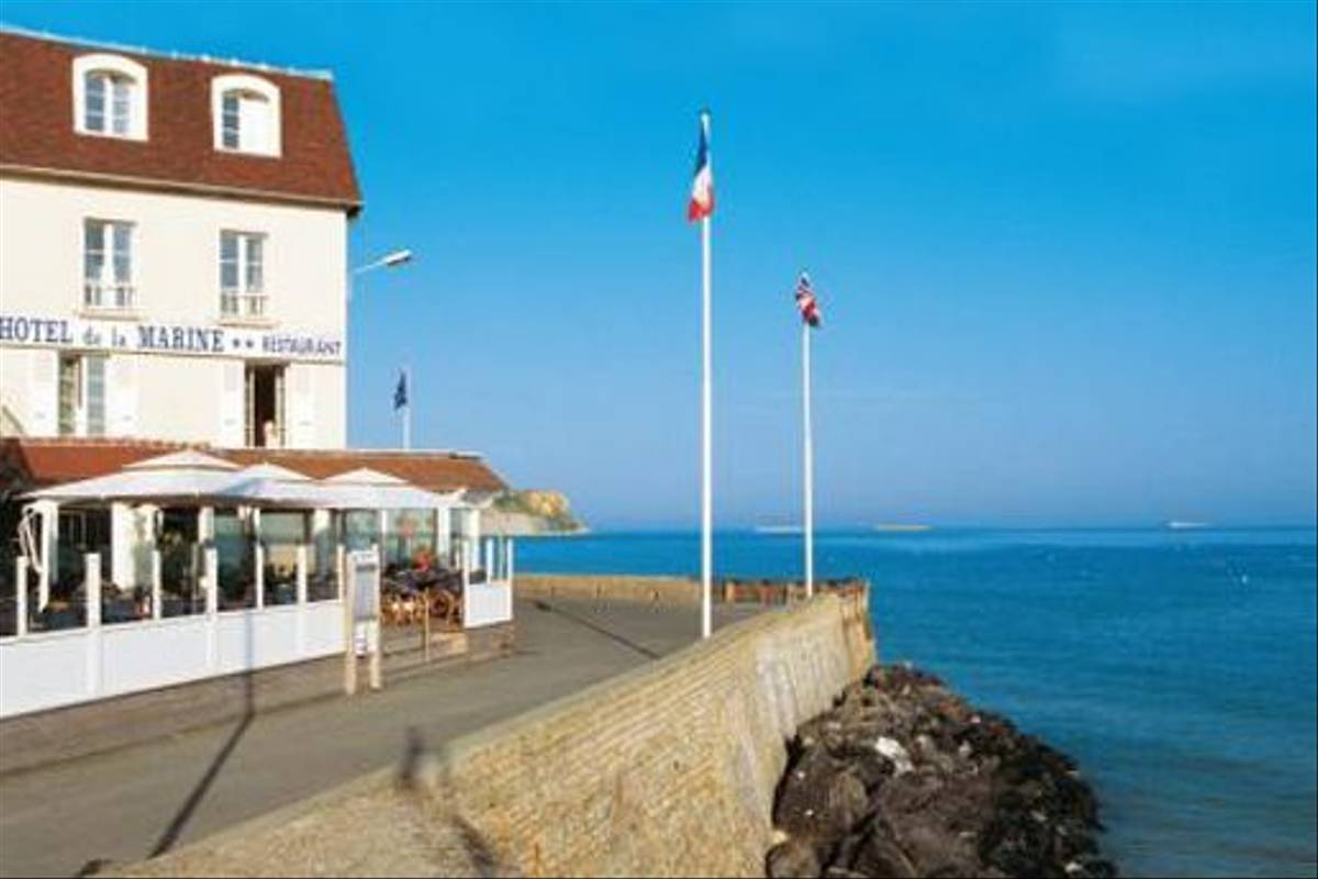 Our hotel in Arromanches, Normandy