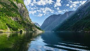 A Beautiful Lanscape In Naeroyfjord
