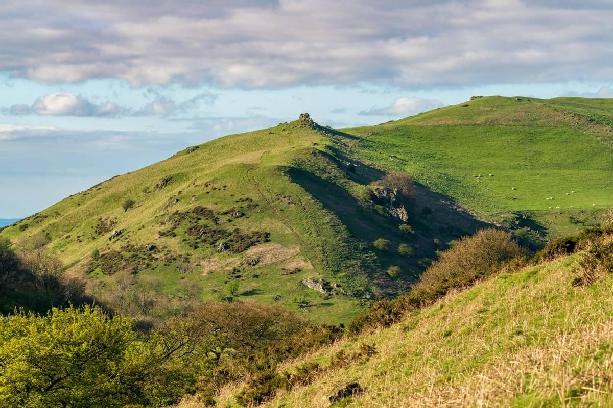 Shropshire landscape near Church Stretton, England, UK