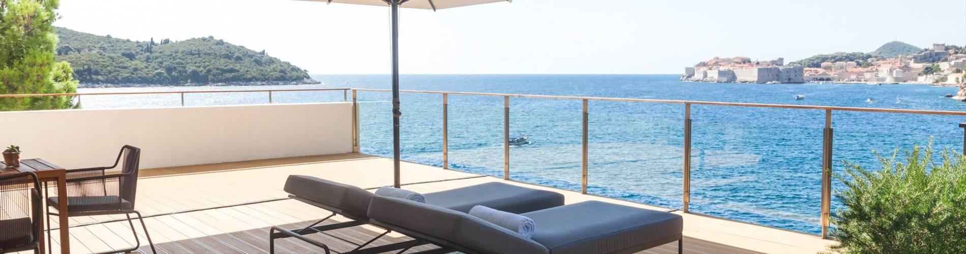 Shaded sunloungers at Hotel Villa Dubrovnik.jpg