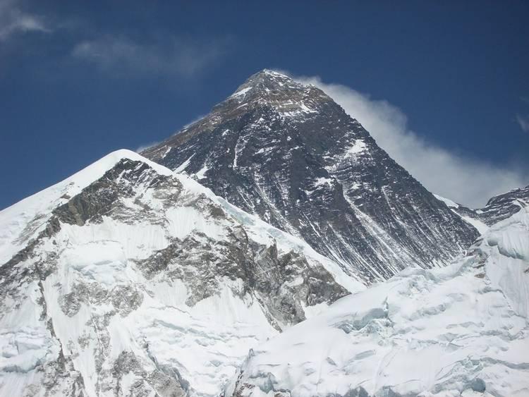 Summit of Mount Everest in Nepal