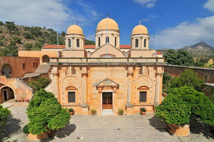 Monastery Of Agia Triada. Crete, Greece, Shutterstock 576704761