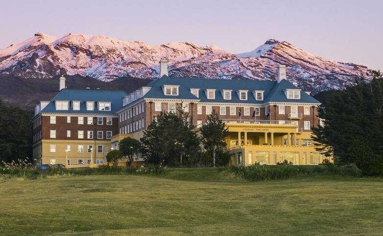 Australasia - New Zealand - Chateau Tongariro ExteriorTwilight 2.jpg