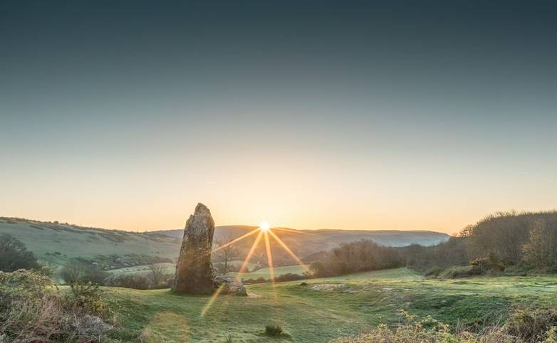 Sunrise at the Long Stone