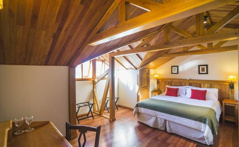 Patagonia -Bedroom at Inn Hosteria Senderos, El Chalten, Santa Cruz Province, Argentinian Argentina-4.JPG