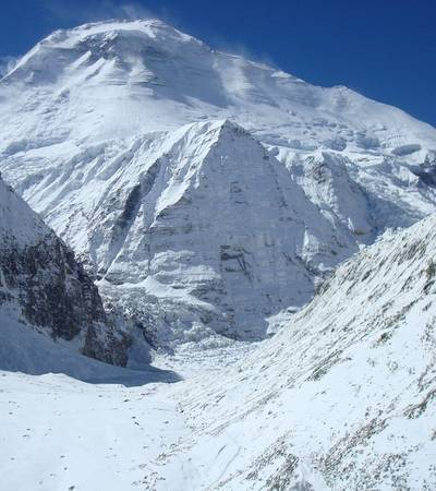 View of Mt Dhaulagiri from French Col at 5,360m