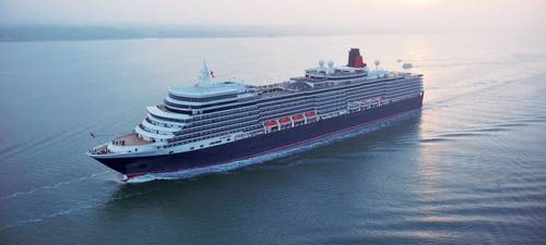 Cunard Queen Elizabeth. Arrival in Port of Southampton 8th October 2010