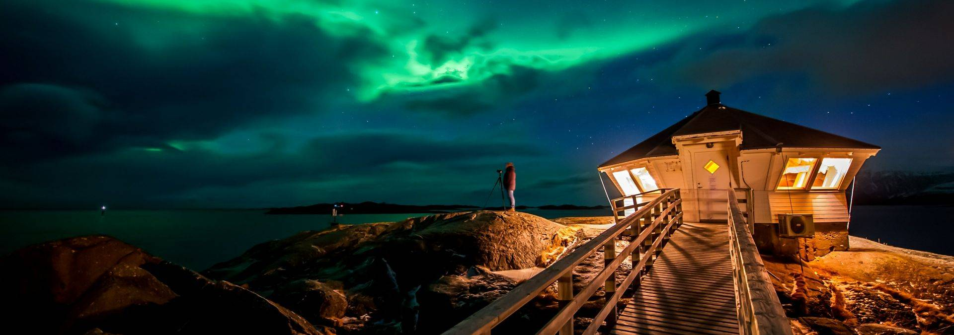 NOrthen Lights By The Lighthouse Photo Gaute Bruvik