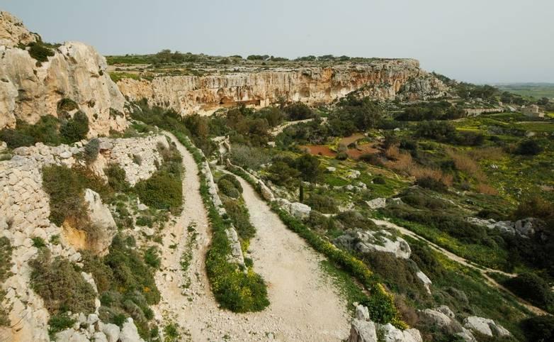 Dingli cliffs in Malta.