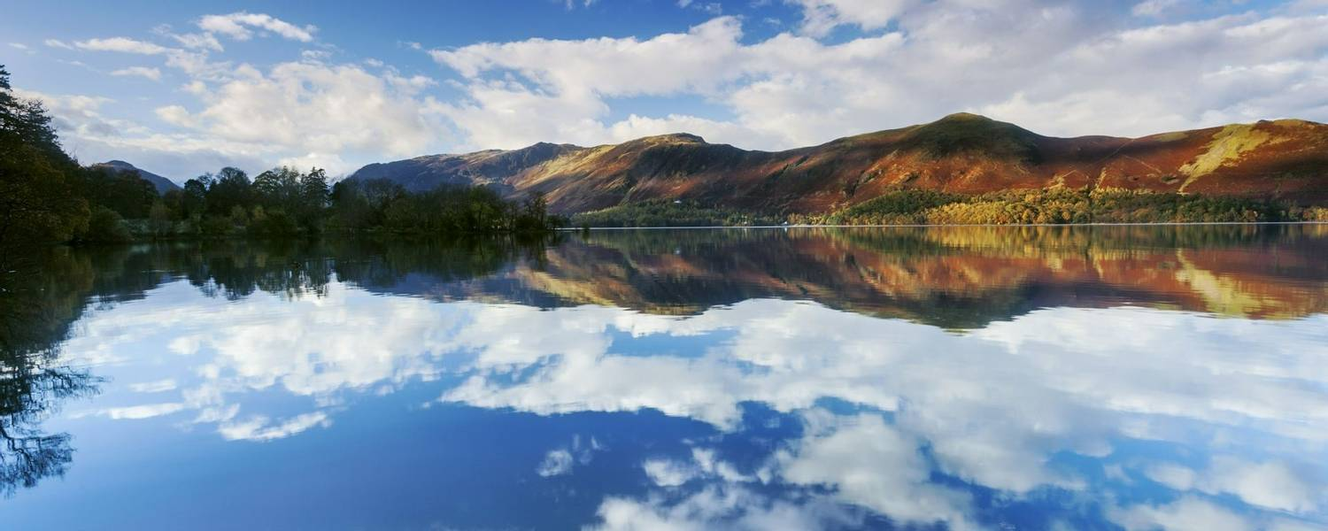 Derwentwater, one of the principal lakes of the Lake District National Park, Cumbria