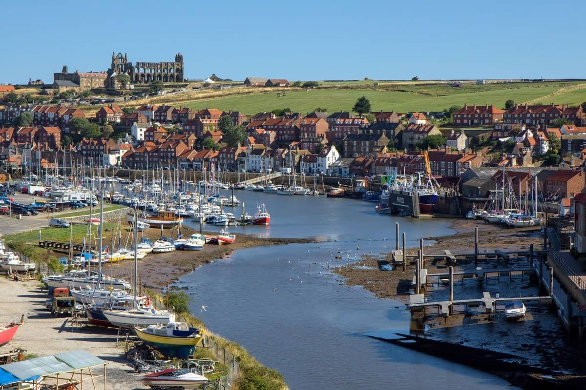 View along the Esk towards Whitby