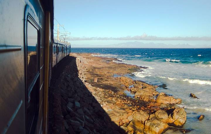 Indian Ocean and Train-Cape Town ,South Africa