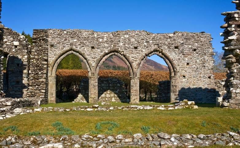 North wall of the nave, showing intact archesCymer Abbey Cadw SitesSAMN: ME001NGR: SH721195GwyneddNorthAbbeysMedieva…