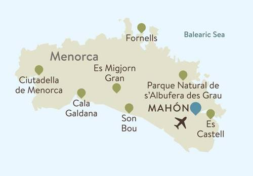 Menorca Itinerary Map