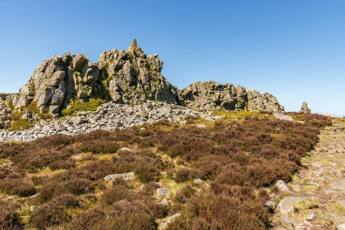Shropshire landscape at the Stiperstones National Nature Reserve, England, UK