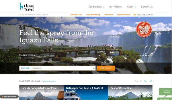 Llama Travel Website