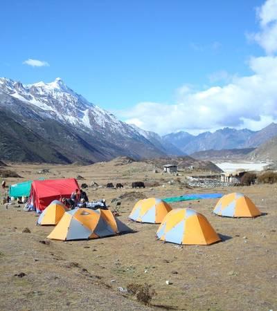 Camp near Thanza in Lunana