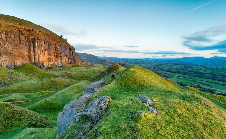 The Llangattock Escarpment in Wales