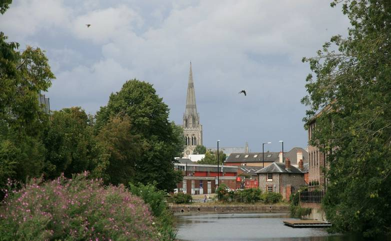 Chichester Canal in Chichester.JPG