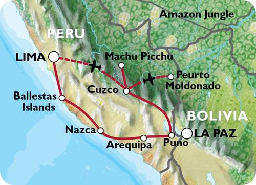 LIMA to LIMA (22 days) Incas & Amazon Family Adventure