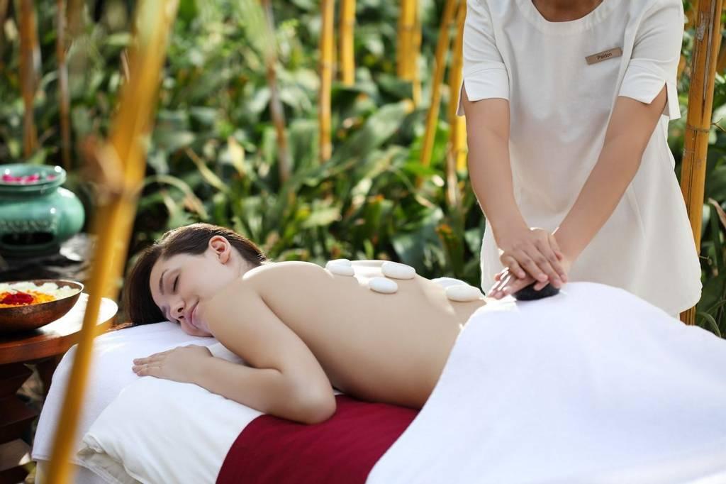 Enjoying an unwinding spa treatment at Ananda
