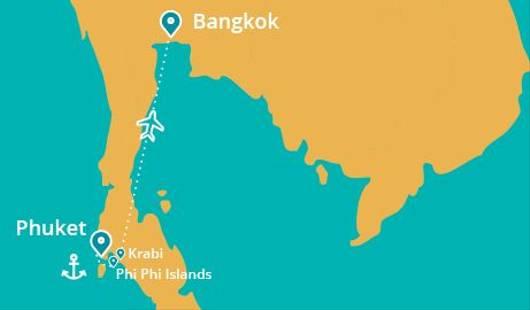 Thailand Island Trail Map