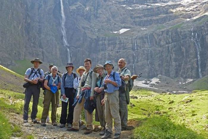 Naturetrek group in the Cirque de Gavarnie (Julian Gayarre)