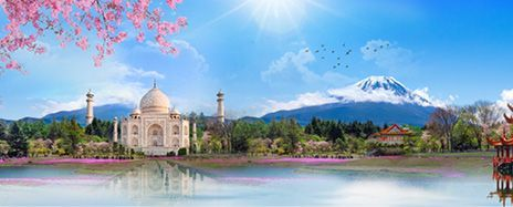 Gems of India, Ancient China & Japan in Bloom