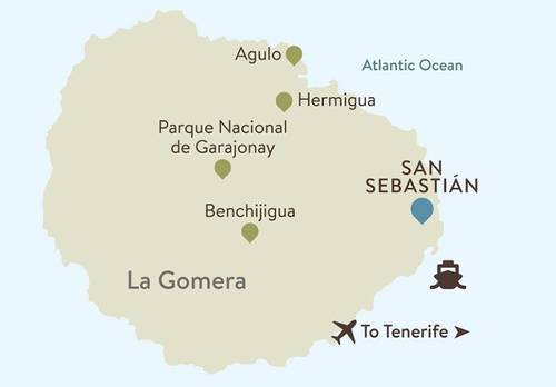 La Gomera Itinerary Map