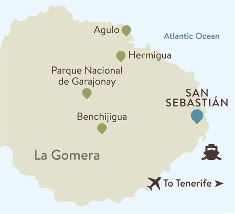 La Gomera Itinerary Map