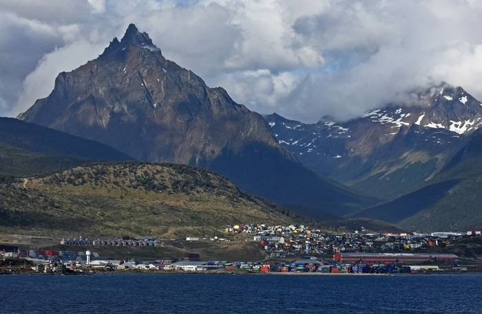 Departure from Ushuaia, 22 Jan 2016