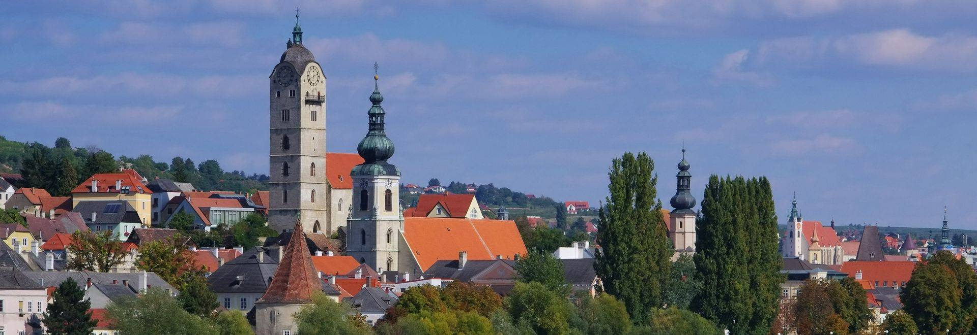 Krems and Stein on Danube river