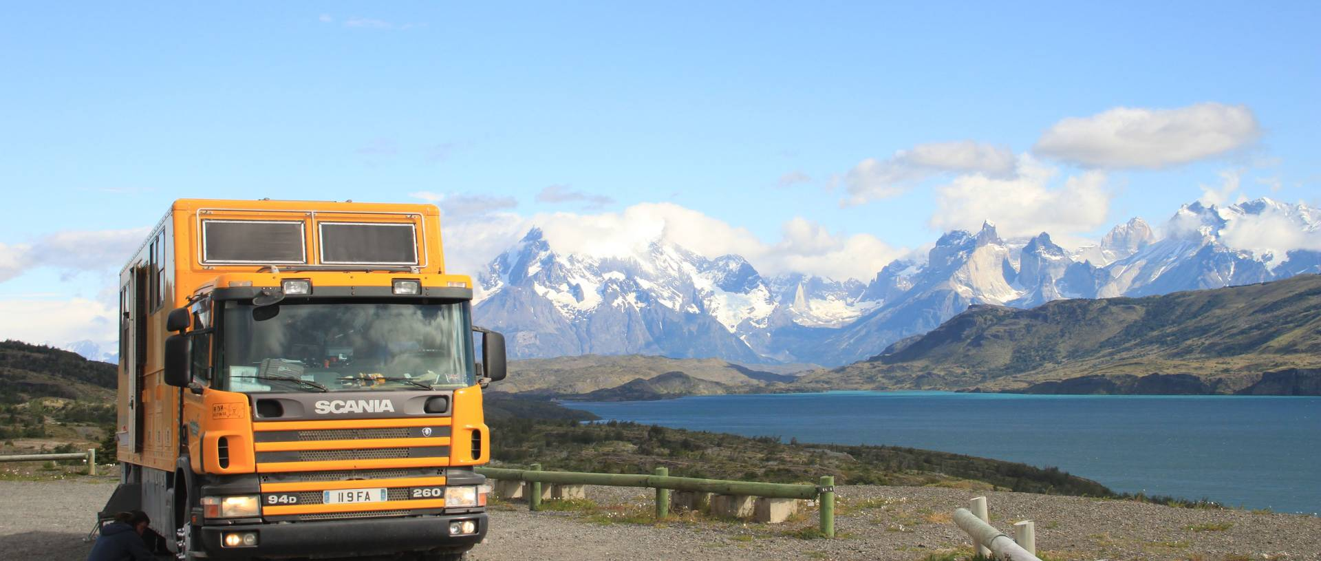 Pumping Tires In Torres Del Paine National Park