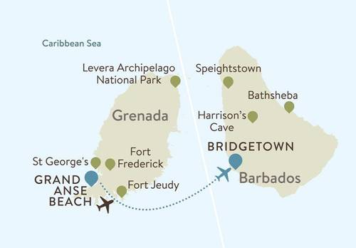 Grenada Itinerary Map