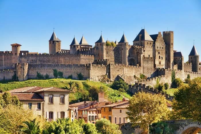 Castle of Carcassonne, France. shutterstock_168186269.jpg
