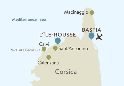 Corsica Itinerary Map