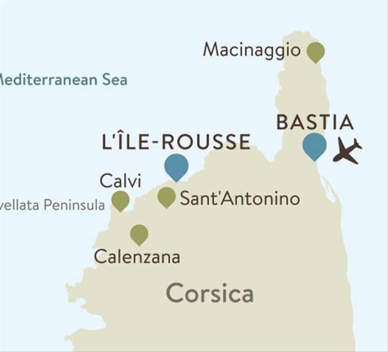 Corsica Itinerary Map
