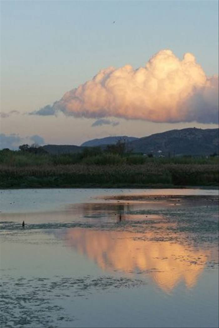 Evening clouds over Agia Lake
