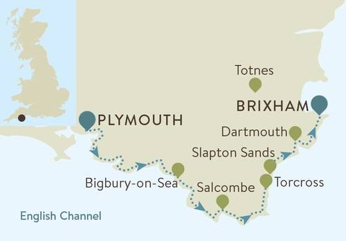 South Devon Coast Map