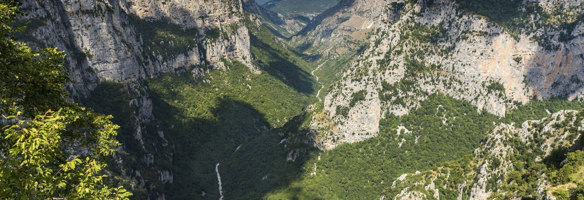 Located in Zagoria, Vikos Gorge is a popular site for hiking.