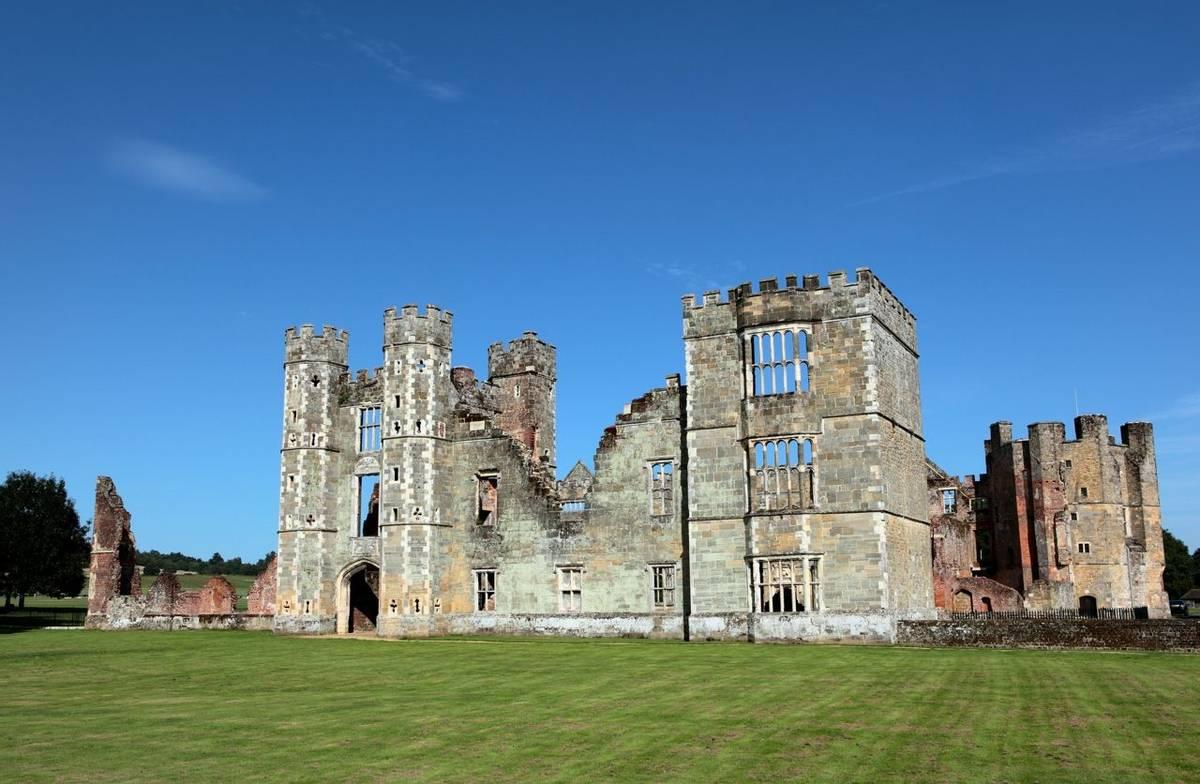 Castle Ruins in Midhurst West Sussex
