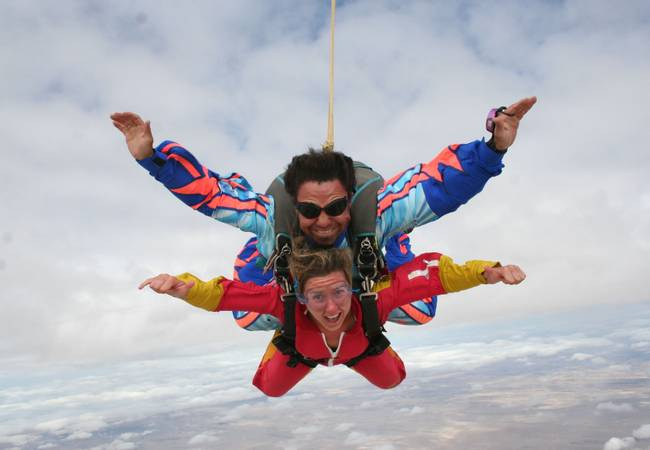 Sky Diving, Swakopmund, Namibia - Travel Insurance