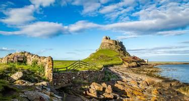 Lindisfarne Castle on Holy Island, Northumberland, UK