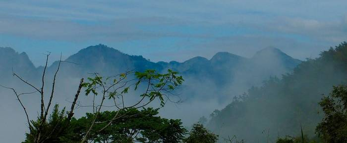 Mountains in western Taiwan by Paul Gallagher